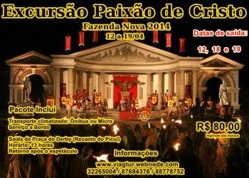Banner excursão paixão de cristo